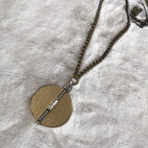 Silpada K&R Collection Crystal Token Necklace